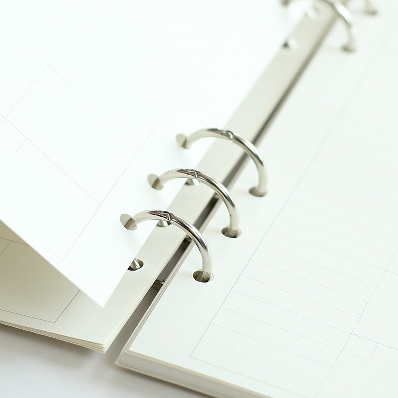 Office & School Supplies 1pc A5 Metal Spiral Binder 6 Rings Notebook Folder Clips Diy Album Scrapbook Clips Metal Ring Binder Office Desk Calendar Circle