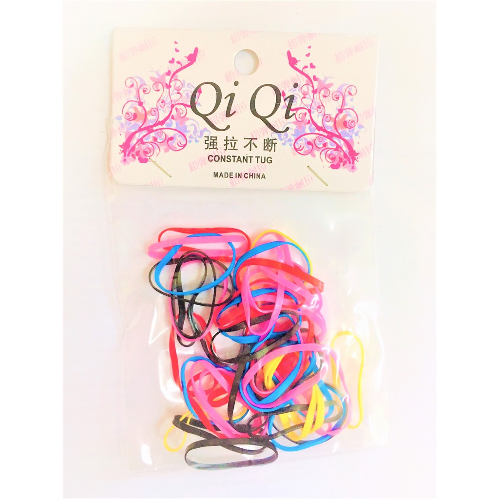Rubber Elastic Hair Bands Constant Tug Rubber Hair Bands For Ladies Colorful Black Hair Accessories