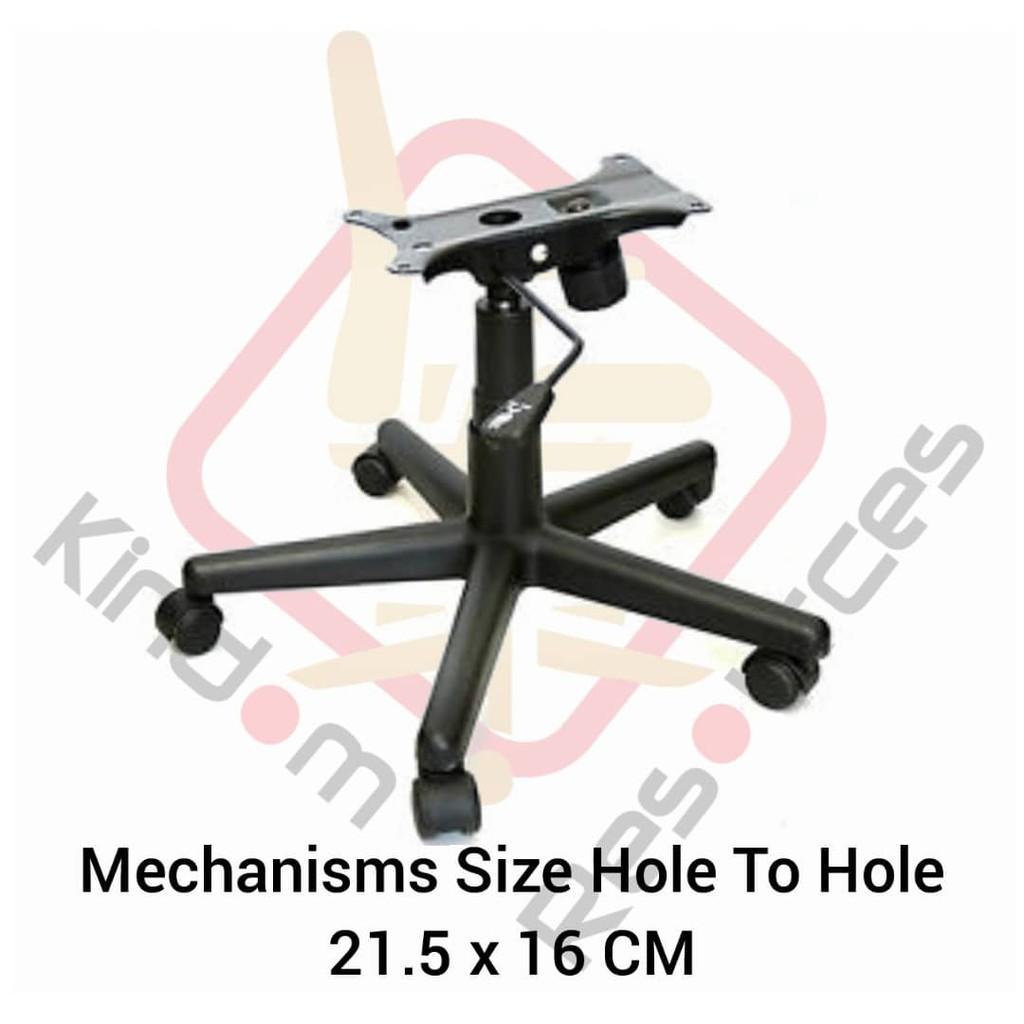 Office Chair Base + Wheels + Gaslift + Mechanism Set (Office Chair Base Set) Suitable For Mostly Office Chair