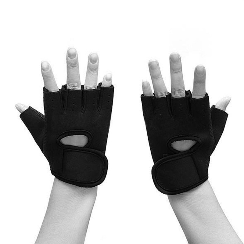 Non-Slip Half Finger Cycling Gloves Coconut Tree Cartoon Exercise Gloves For GYM Weight Lifting Training Fitness Biking Exercise & Fitness