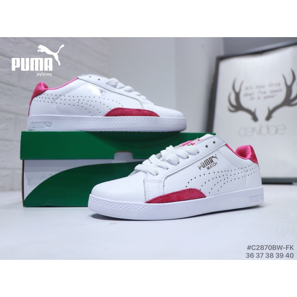 Original PUMA Kasut Basket Heart Women Glitter shoes silver white sneakers  nice  5786cff53bc9