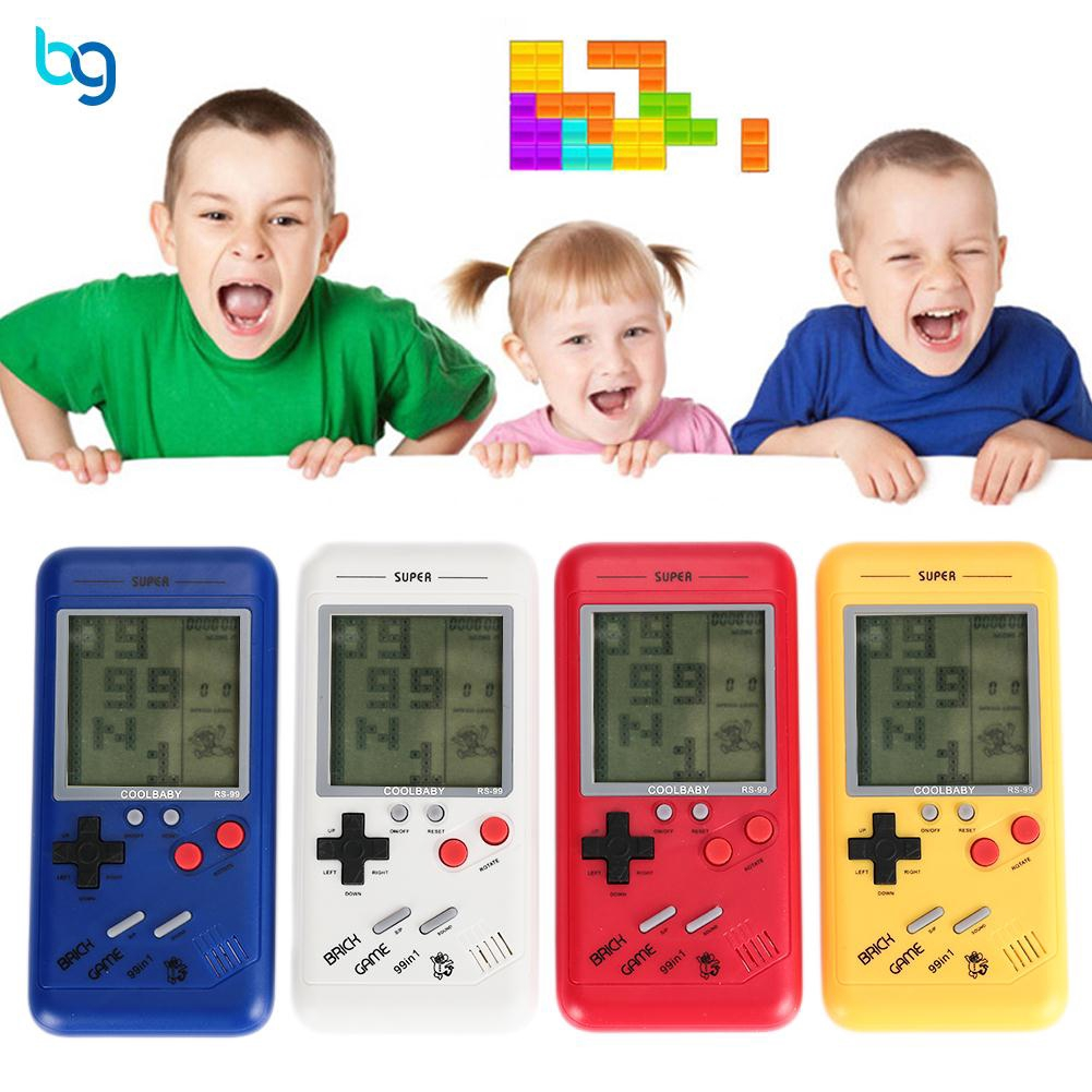 Classic Tetris Hand Held LCD Game Toy Fun Brick Riddle Educational Toys