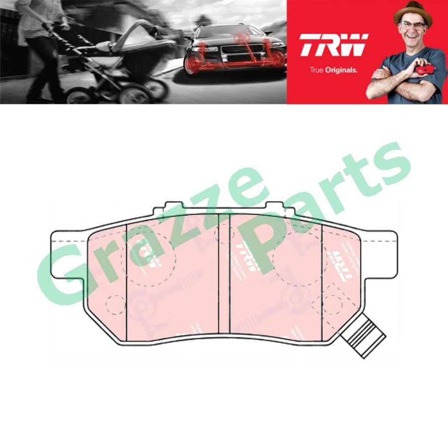 TRW Brake Pad Rear for GDB499 - Honda City SEL TMO Jazz Civic SO4