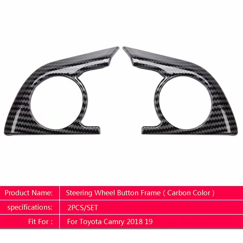 For TOYOTA CAMRY 2018-19 Steering Wheel Carbon Fiber Color Sticker Cover Trim