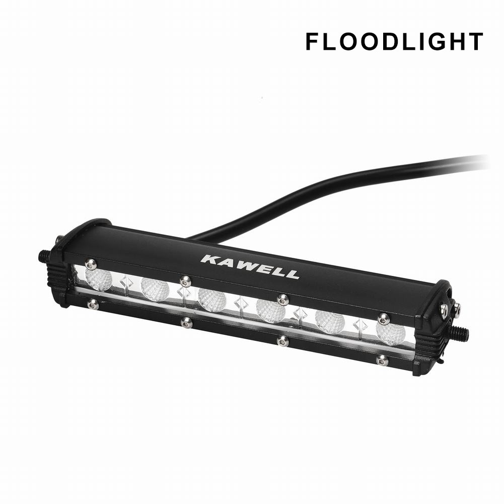 KAWELL Universal 3.8 Inch Super Thin 6-LED Light Bar Off Road LED Worklamp for ATV Mine Boat 4x4