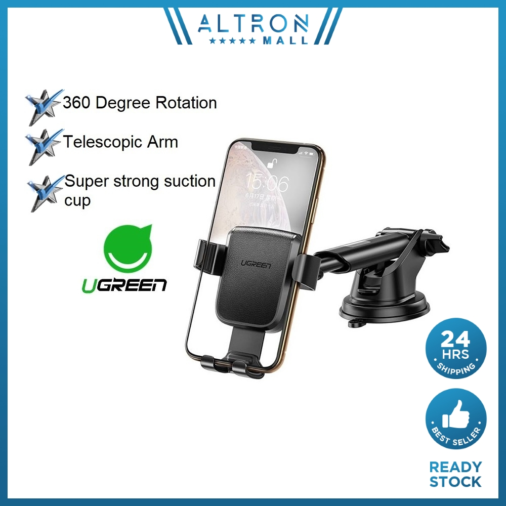 UGREEN Car Phone Holder Mount Holder for Phone in Car 360 Rotation Stand Holders Mounts Stable Stands Dock Docks