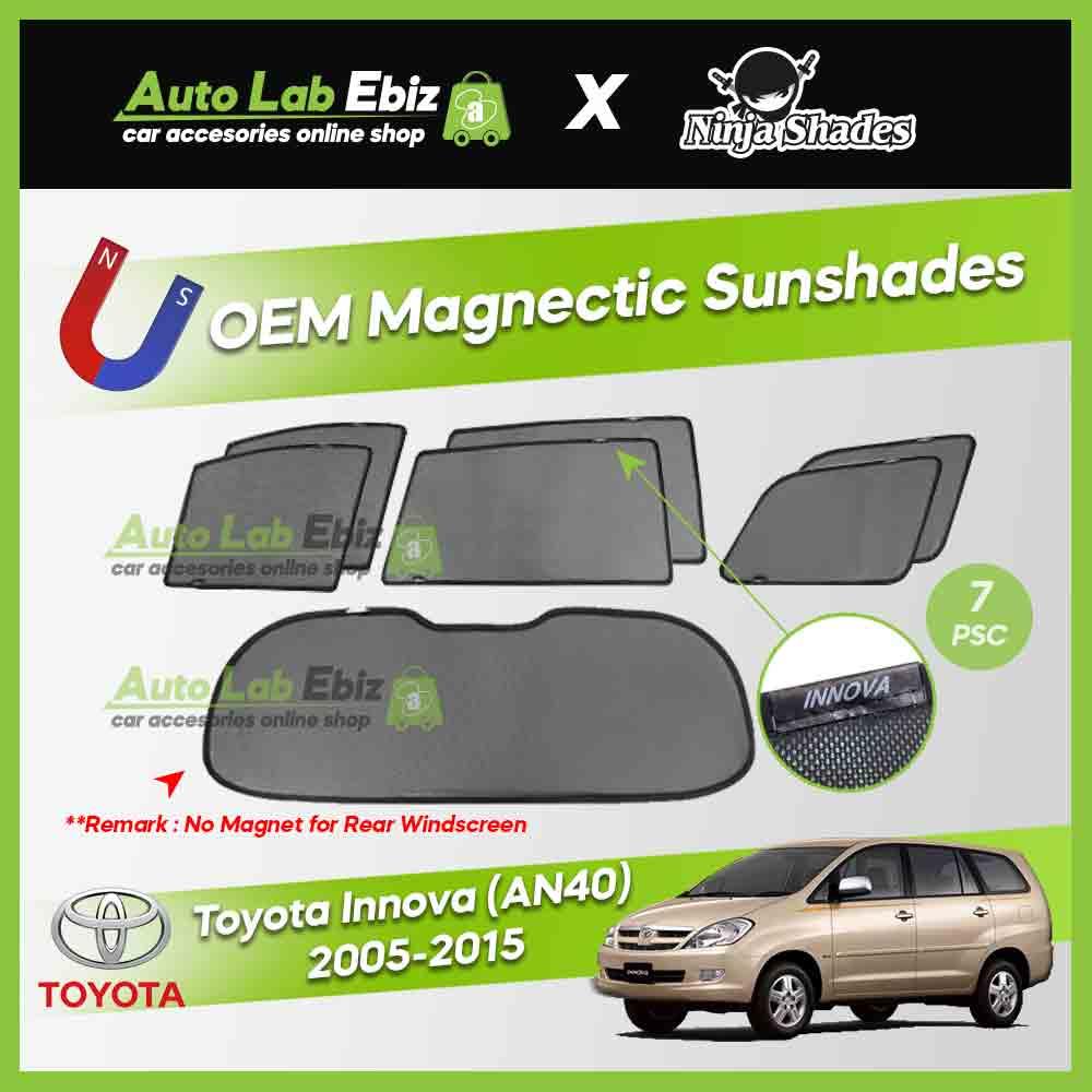 Toyota Innova 2005-2015 Ninja Shades OEM Magnetic Sunshade (7pcs)