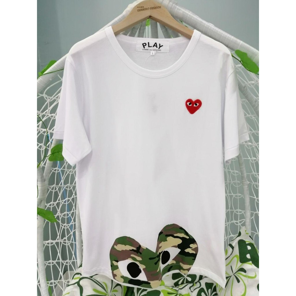 COMME des Garcons Play Pure Cotton Short-sleeved Heart T-Shirt Simple Fashion Style