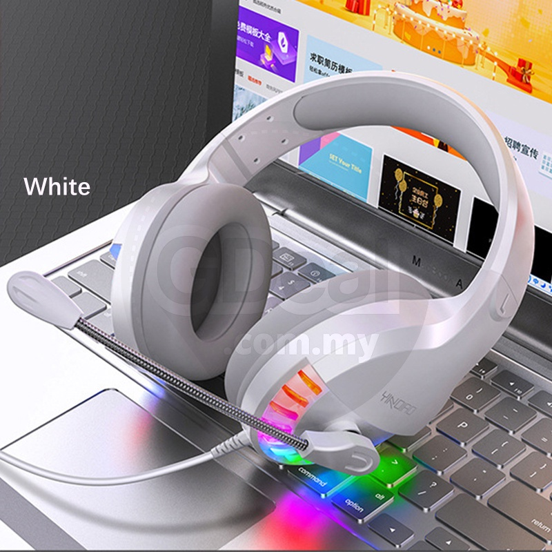GDeal Modern E-Sports LED Light Gaming Online Study Comfortable Sports Headphone With Microphone