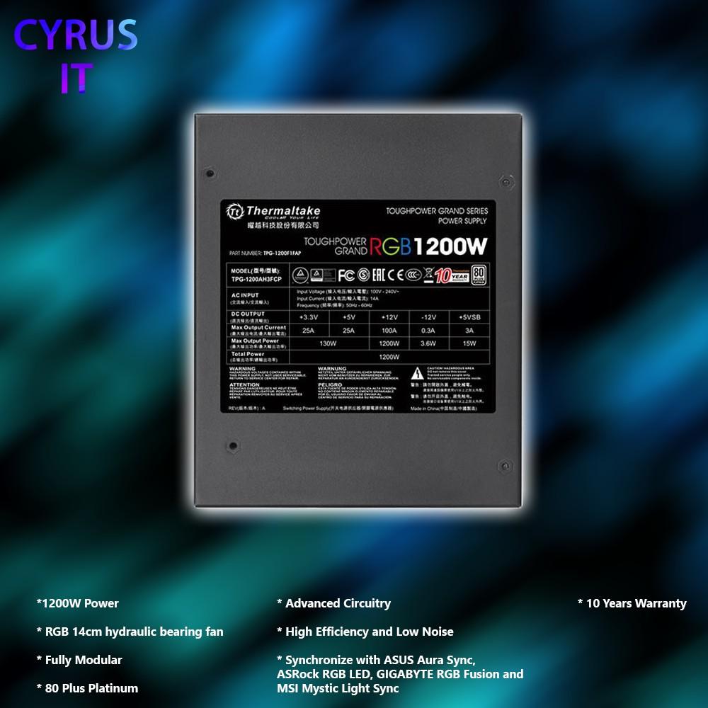 Thermaltake Toughpower Grand RGB 1200W 80 Plus Platinum