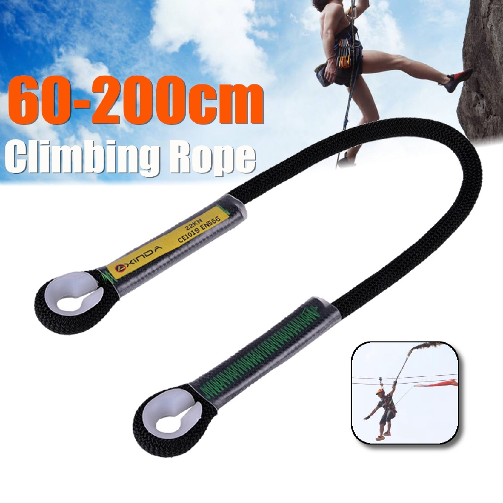 Rock Climbing Abseil Tree Surgery Rigging Safety Sling Rope 60cm 200cm