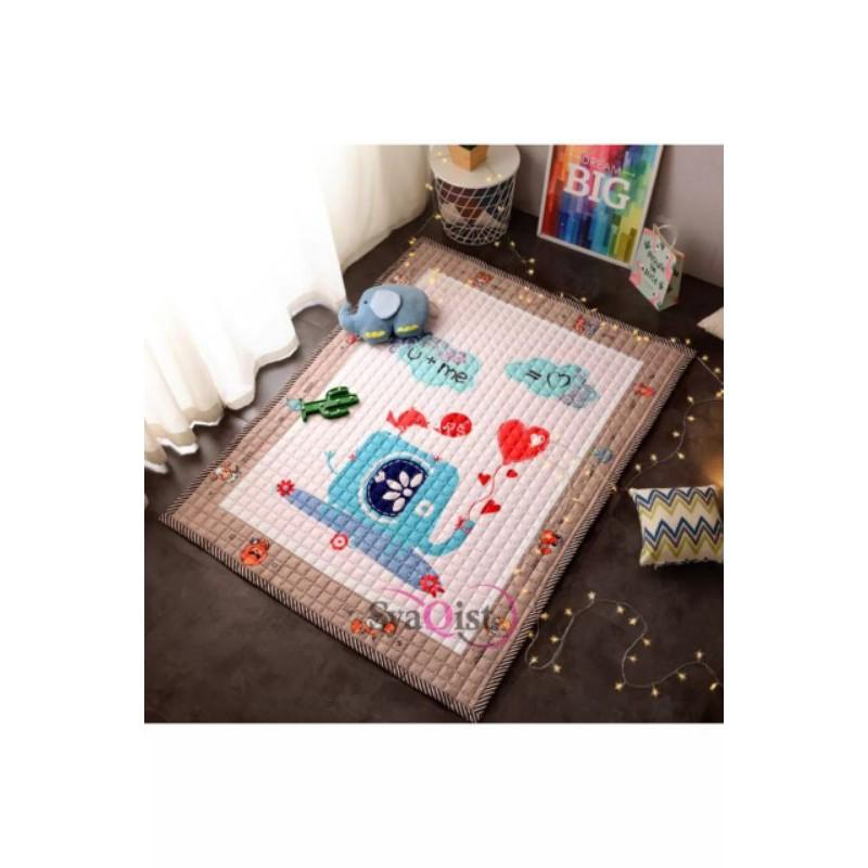 Carpet Playmat Cartoon Patchwork Kapet Anti Dust