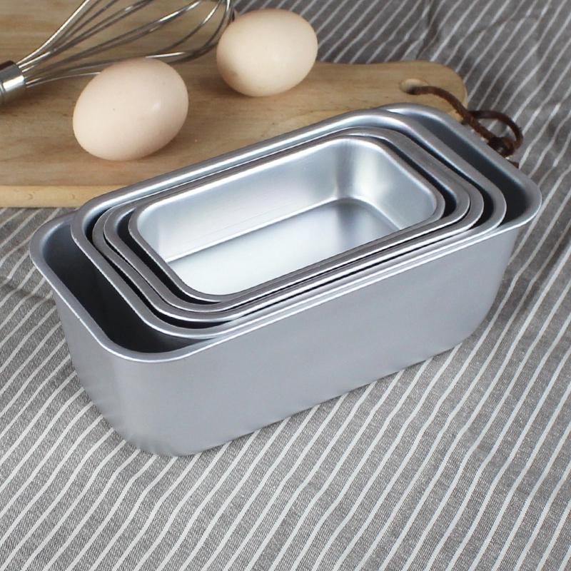 Rectangular Bread Cake Mold Loaf Pan Aluminum Brownie Snow Toast Box Cheese  Box Baking Roast Bakeware