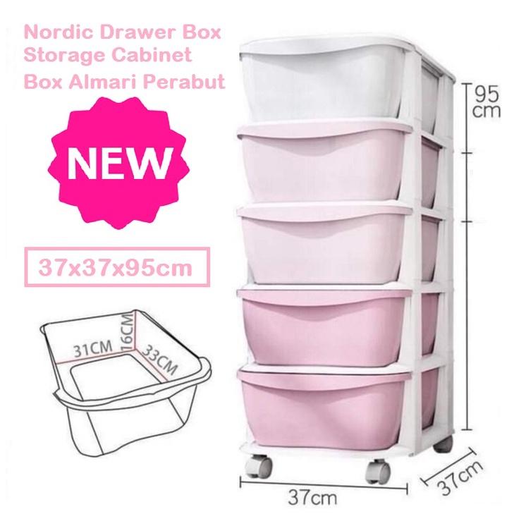 [ READY STOCK ]  Nordic Kid Baby Box Drawer Cabinet Storage DIY Almari Perabut Furniture Murah Toy Kithen Simpanan Murah