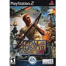 PS2  Metal of Honor : Rising Sun / Frontline / European Assault / Vanguard [Burning Disk]