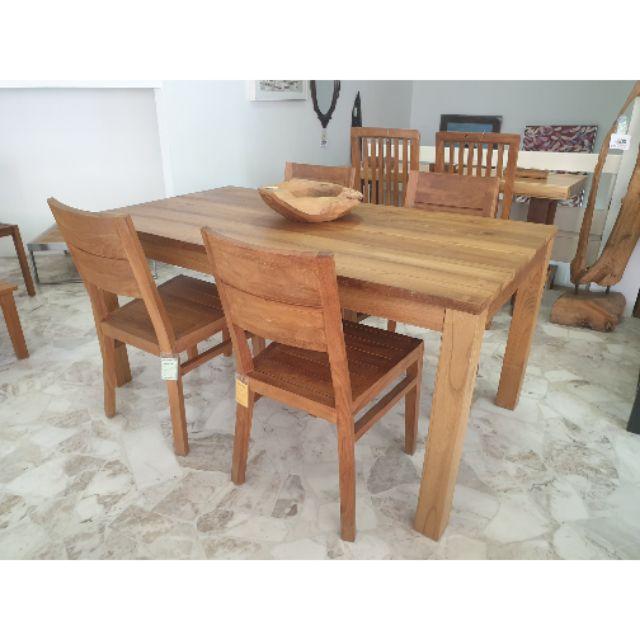 Teak Wood Dining Table Ee Malaysia, Teak Wood Dining Room Table