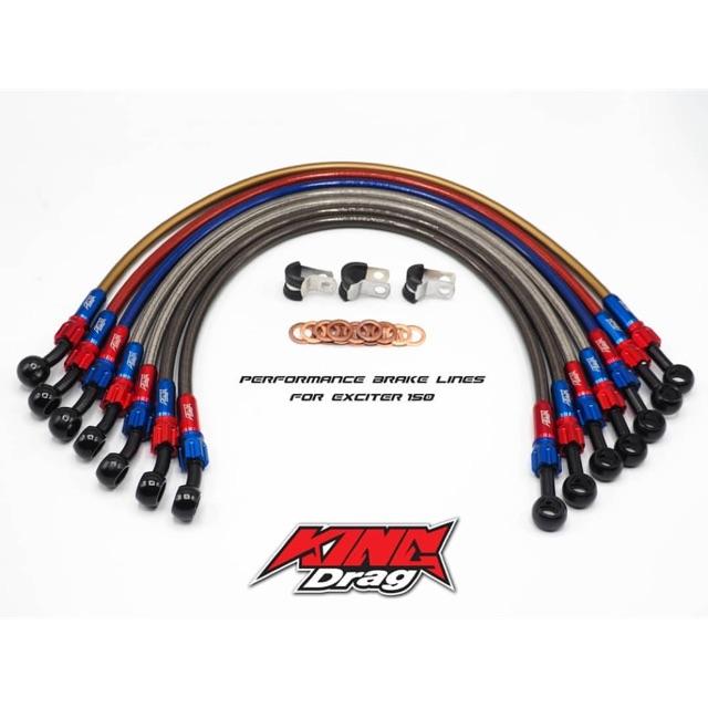 KingDrag Brake Hose Set (Front & Rear) Y15 / RS150 / Y125Z / R25 / Ninja250  / Z250 / R15 King Drag Original