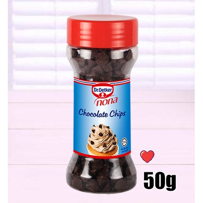 dr. oetker nona chocolate chips 50g ( Free Fragile + Bubblewrap Packing )