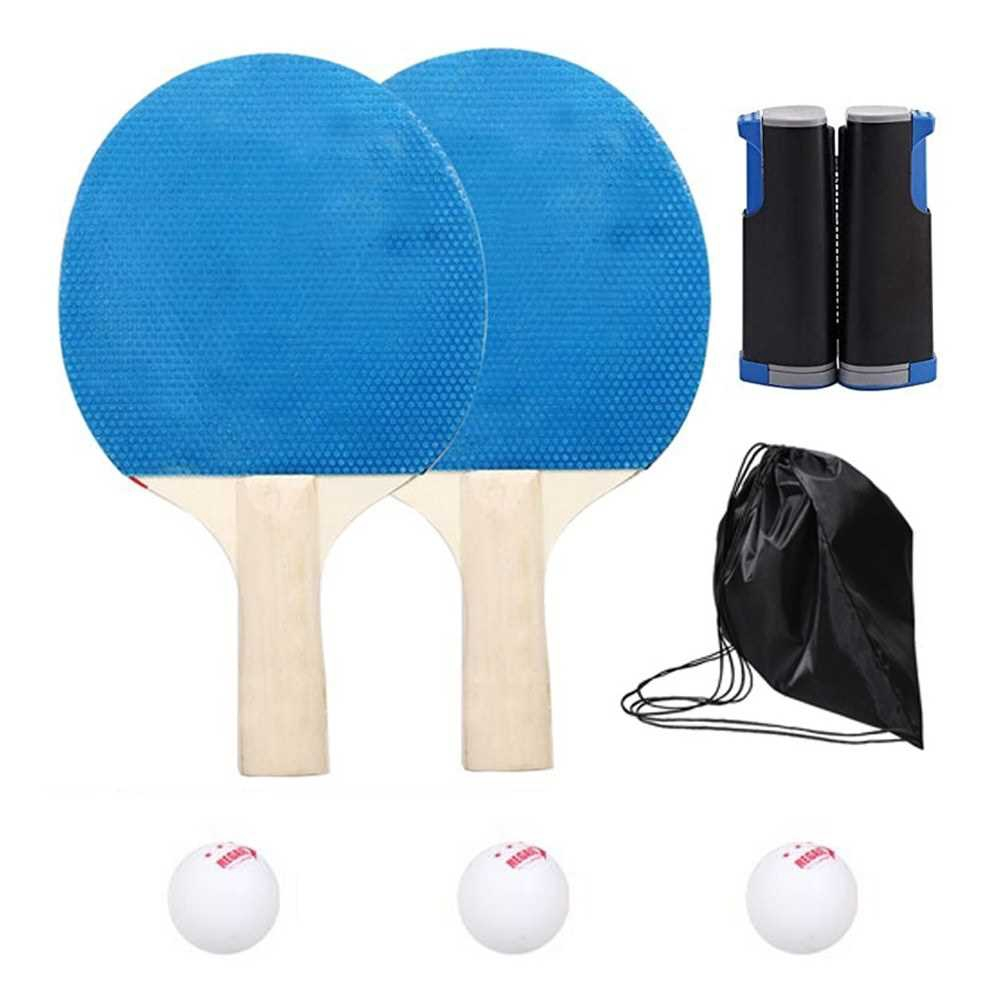 Professional Table Tennis Sports Trainning Set Racket Blade Mesh Net Student Sports Equipment Simple Portable (Standard