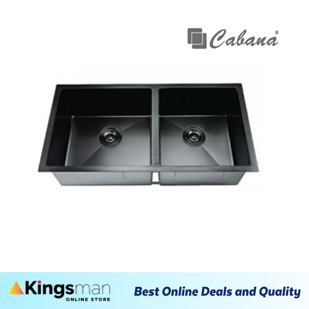 [Kingsman] Undermount Stainless Steel Home Living Cabana Kitchen Sink Double Bowl Ready Stock - CKS7407 Ready Stock