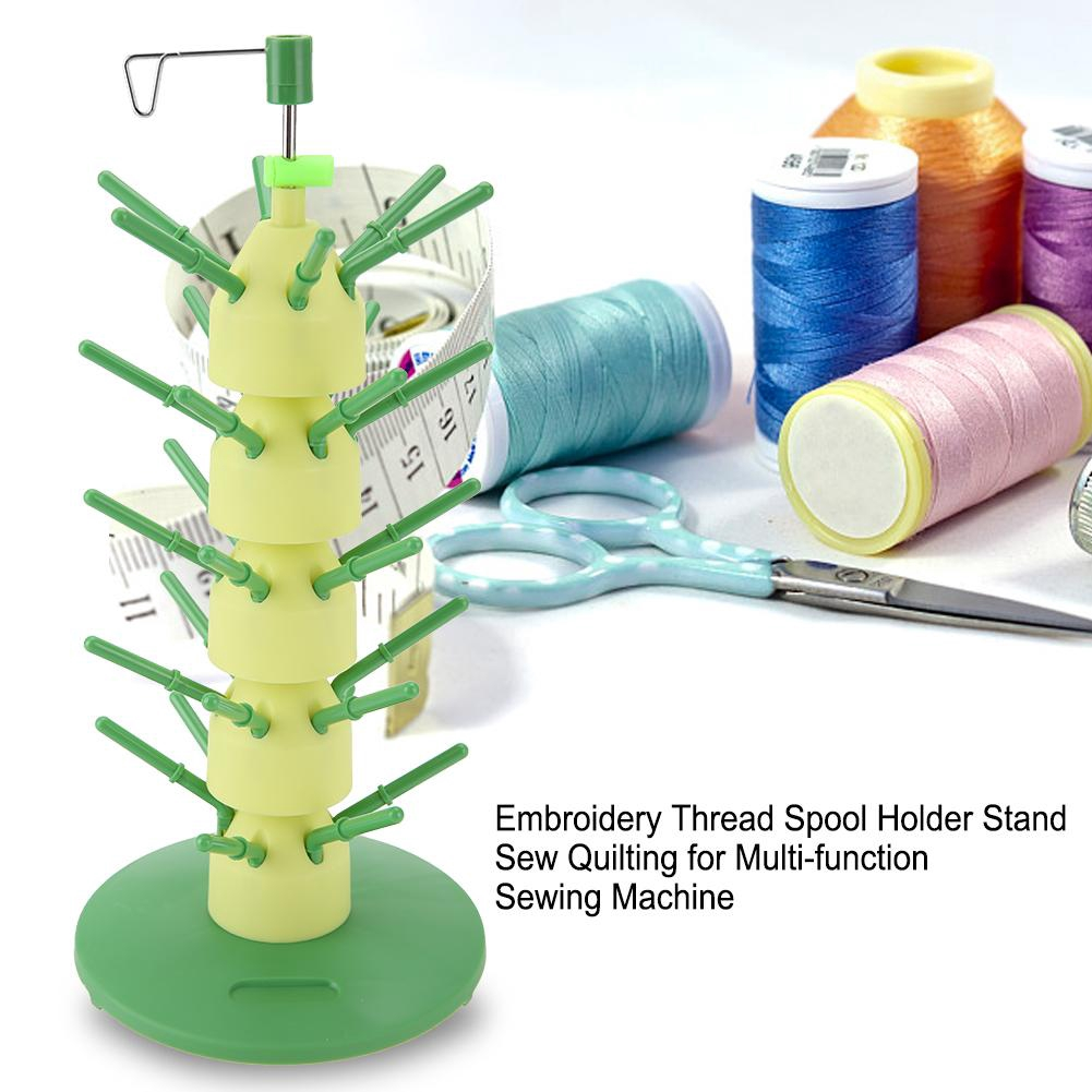 Multifunction 3 Spool Thread Stand Holder Embroidery Quilting Rack Sew Organizer