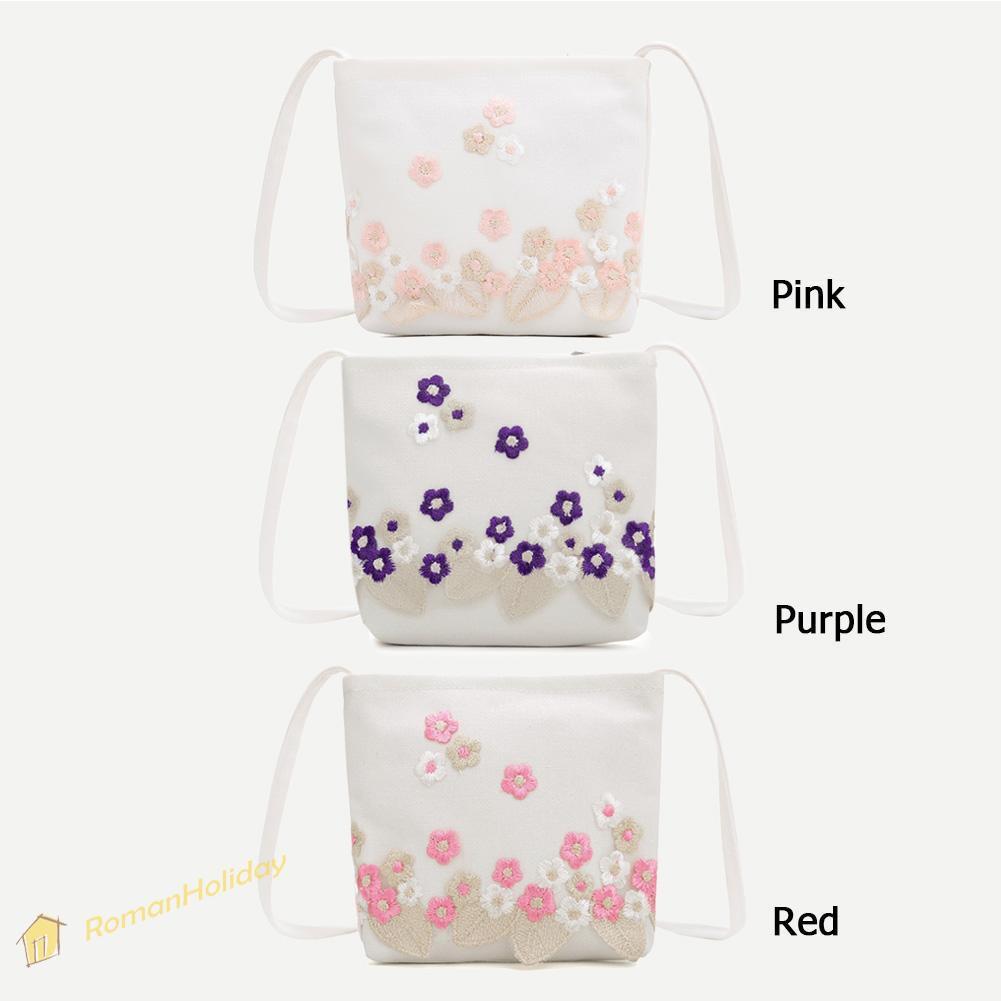 0c3e4b682d6d ❤RM❤Flower Embroidered Shoulder Messenger Handbags Women Canvas Crossbody  Bags