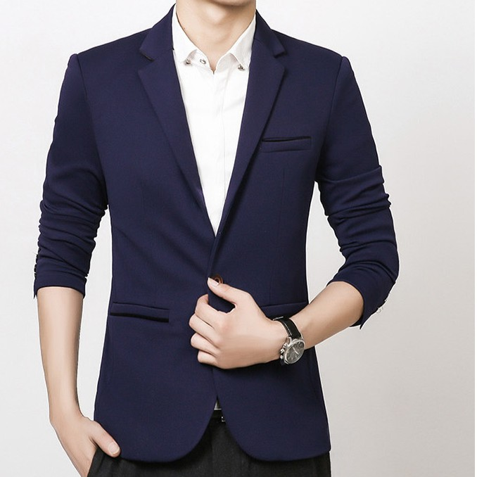 00e174320d8 MBS05-T Full Set Slim Fit Blue Men Wedding Suit (Blazer   Trousers ...