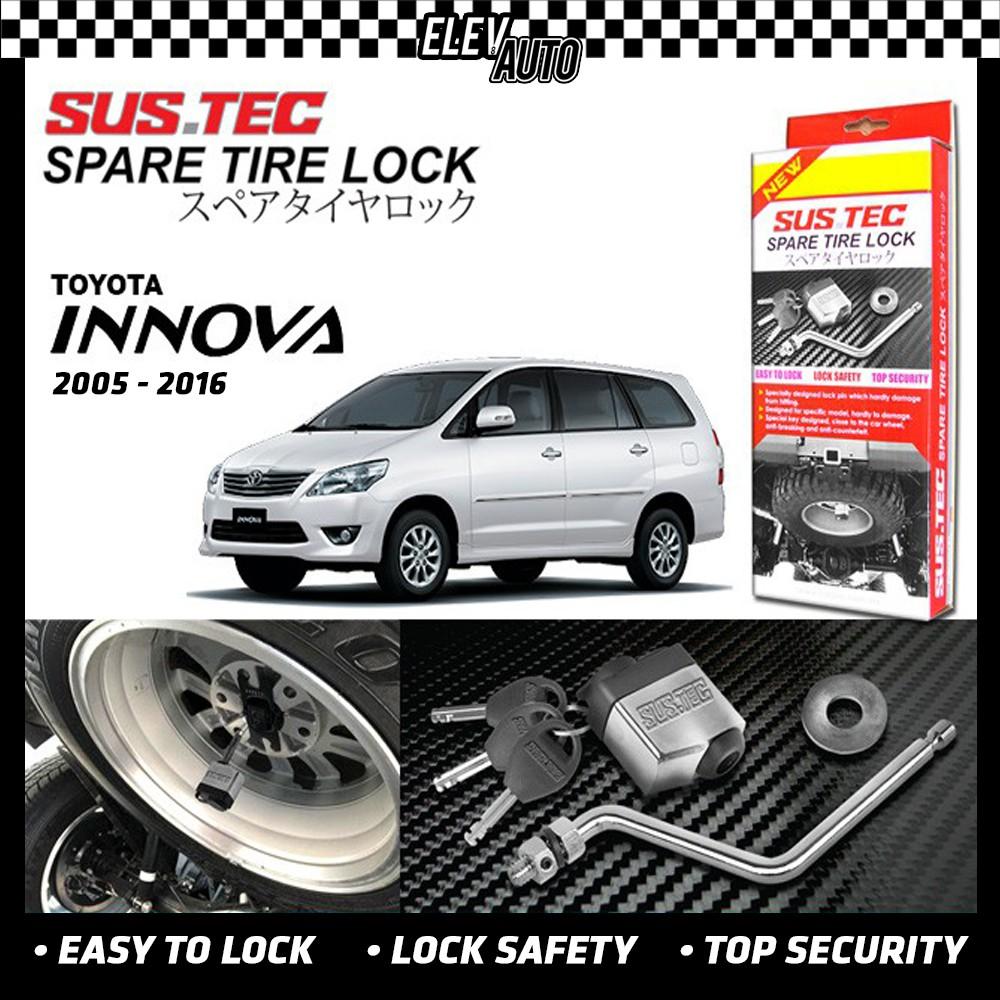Toyota Innova 2005-2015 SUSTEC Spare Tire Wheel Lock Anti-Theft