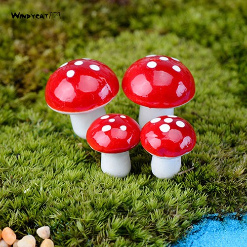 Af Artificial Flower 20 Pcs Miniature Mushroom Garden Ornament