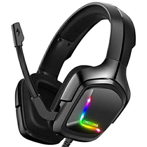 ONIKUMA K20 Camoflage RGB Ultimate Gaming Headphones Microphone ear Cushion Earmuff Mobile Phone PC NoteBook PS4 PC Xbox