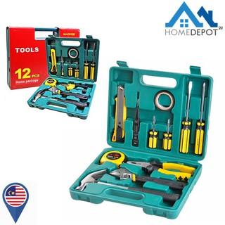 12 Pcs Tools Set Toolbox Diy Tool Box Set