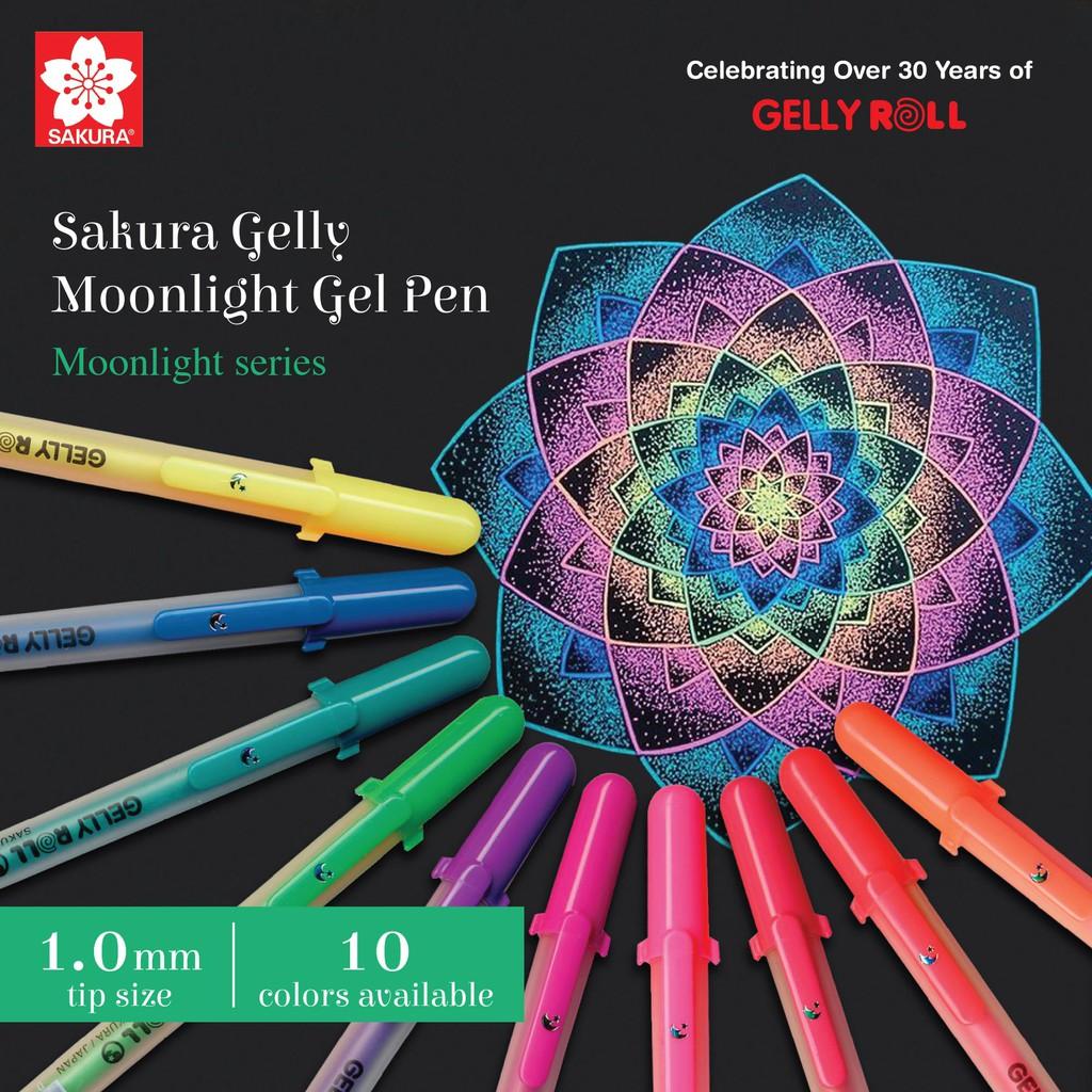 Sakura Gelly Roll Moonlight Gel Pen - 1 0 mm - 10 Color Set