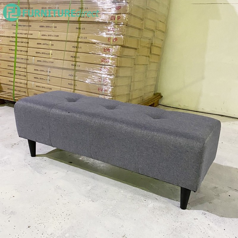 Furniture Direct Lencia Fabric 4 feet Bench chair/Bangku kain