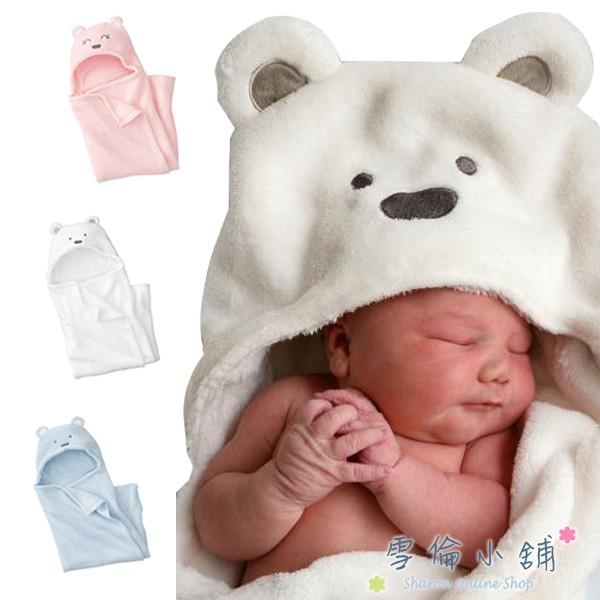 Newborn Baby Fluffy Soft Fleece Hooded Animal Shaped  Blanket Wrap