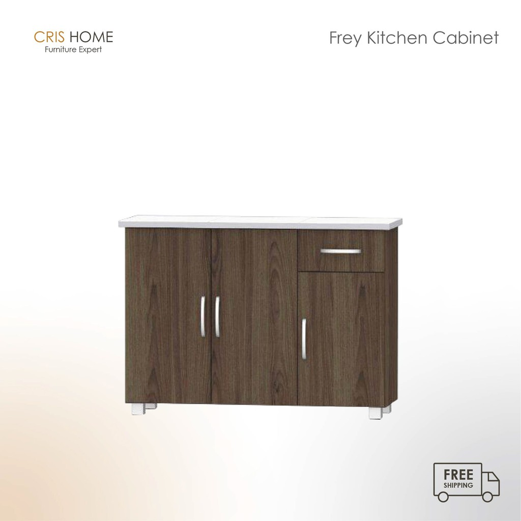 CrisHome - FREY Kitchen Cabinet (Tile Top) / Almari Dapur ( Free Shipping to WM )