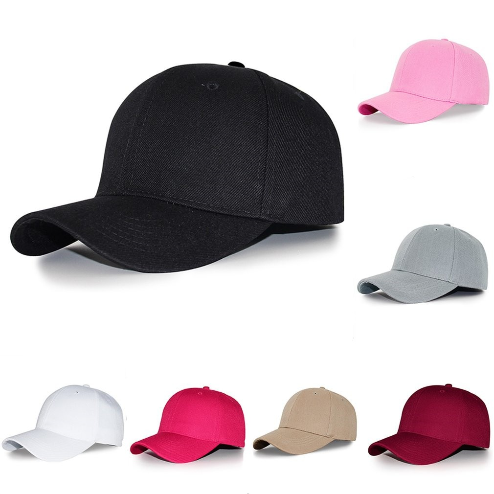 0782543ff61e0 HST Baseball Cap Blank Hat Solid Color Adjustable Hat