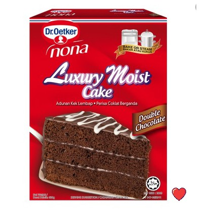 Dr.Oetker Nona Luxury MOIST Cake - Double Chocolate Flavour @ 520g ( Free Fragile + Bubblewrap Packing )