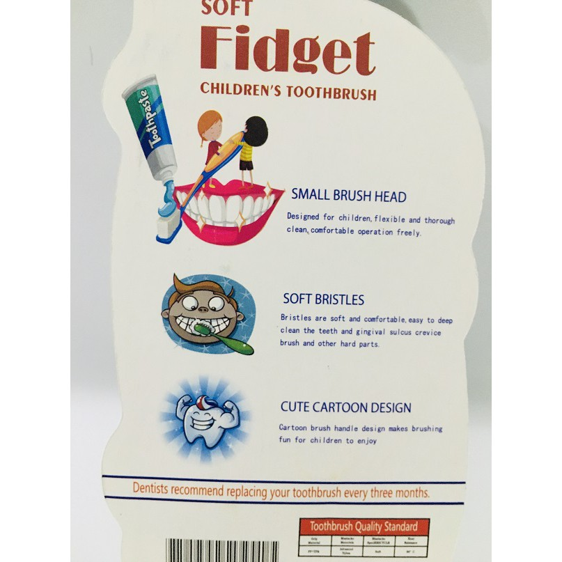 Fidget Children Tooth brush with Free Toy