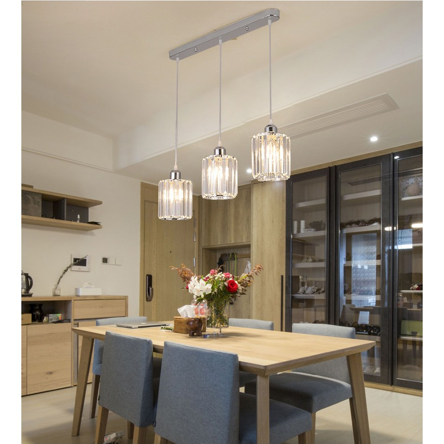 Modern Crystal Ceiling Lights Restaurant Chandelier Bar Three Nordic Personality Table Dining Room Ceiling Lamp Shopee Malaysia,What Goes Well With Light Blue Ripped Jeans