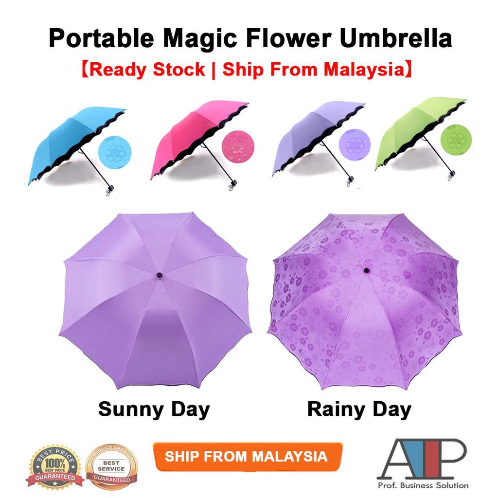 3a9eaf3dba70 Portable Creative Magic Flower Umbrella Anti-UV Sun Rain High Quality