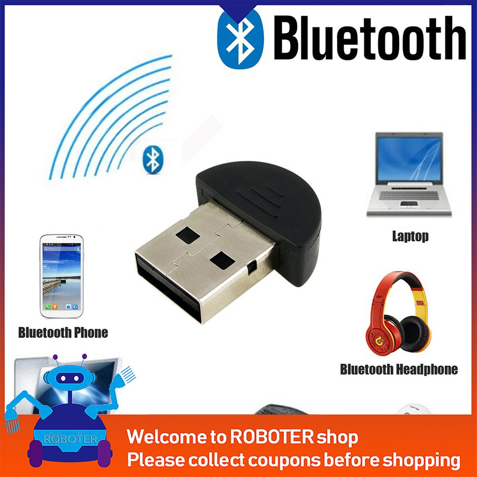 new Universal Mini USB Bluetooth Adapter Dongle For PC Laptop For WIN XP  Vista
