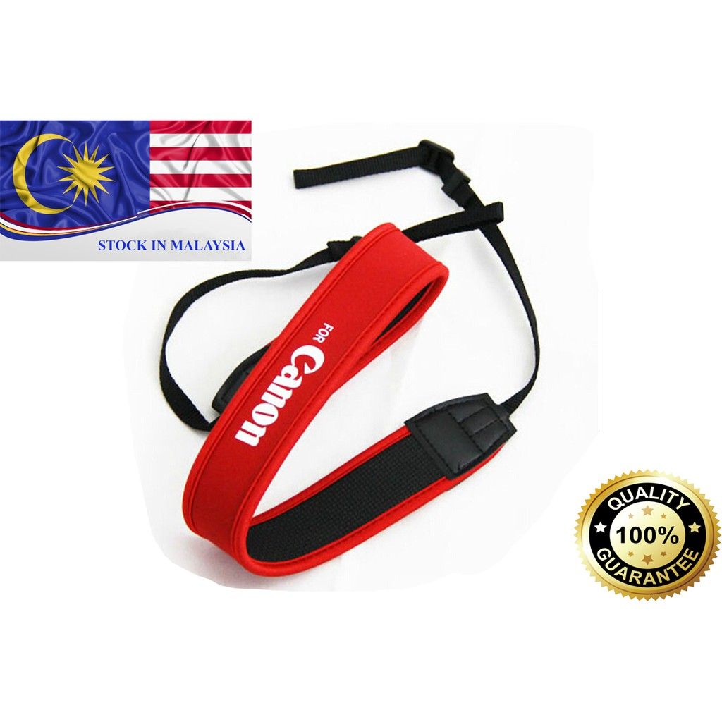 Red Neoprene Neck/Shoulder Strap For Canon DSLR (Ready Stock In Malaysia)
