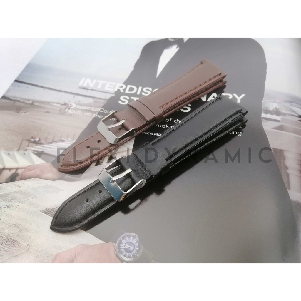 (Local Seller) 20mm Vintage Matte pattern Leather strap Watches band stainless steel Pin Buckle Wristwatch Strap