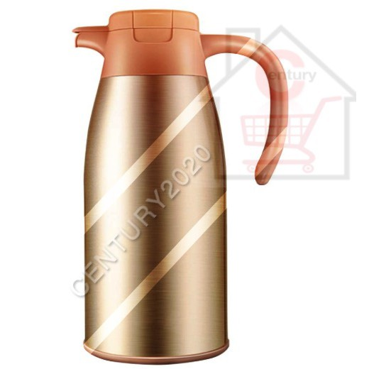 RIMEI Stylish Household Large Thermos Stainless Steel Thermal Flask Vacuum Flask Beverage Bottle Large Capacity 2L