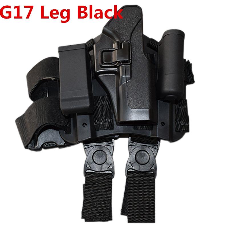 NEW BLACK POLYURETHANE LEATHER BELT HOLSTER FOR GLOCK 21 RIGHT HAND