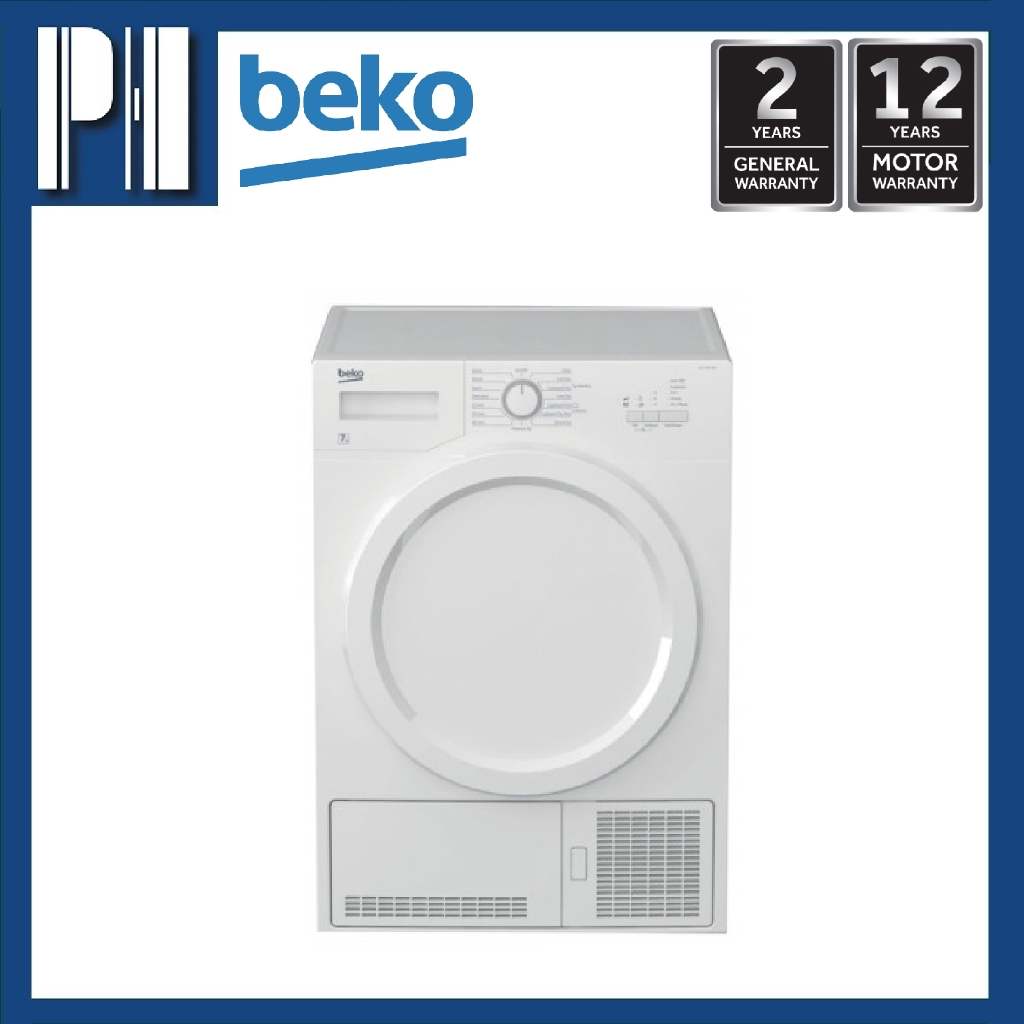 BEKO DCY 7202 XW3 7KG Sensor Controlled Condenser Dryer (Made In Europe)