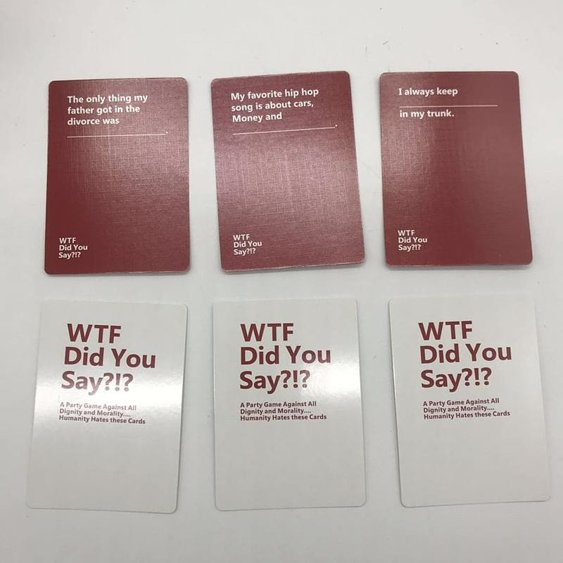Complete Game Full Set of 594 Cards Adult Party Game WTF Did You Say