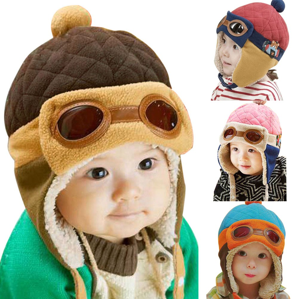 Fashion Kids Baby Thickening Double Ball Hat Warm Winter Knit Beanie Cap  0ccc74aadcdb