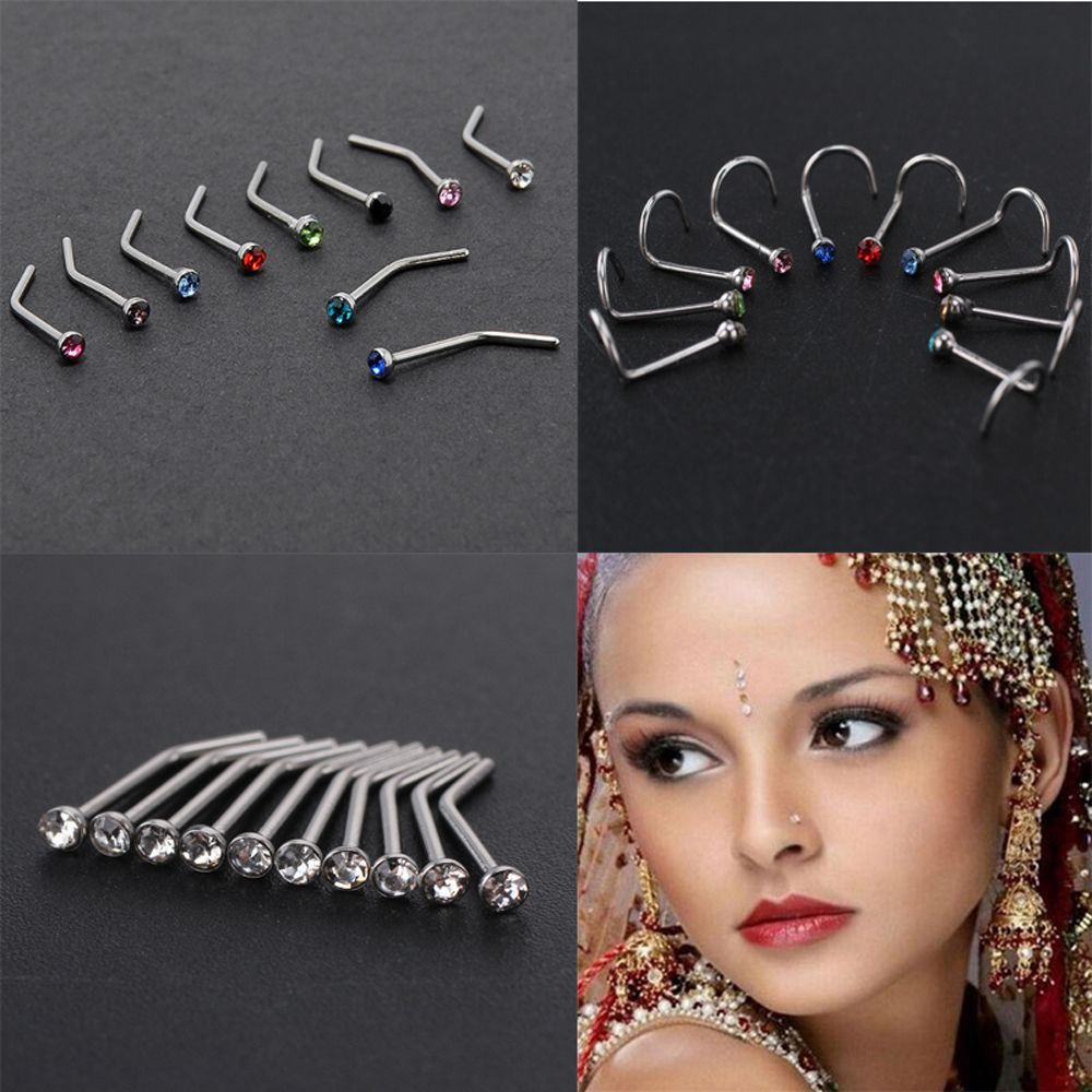 Jewelry Watches Body Piercing Jewelry Thin Gem Body Jewelry Nose