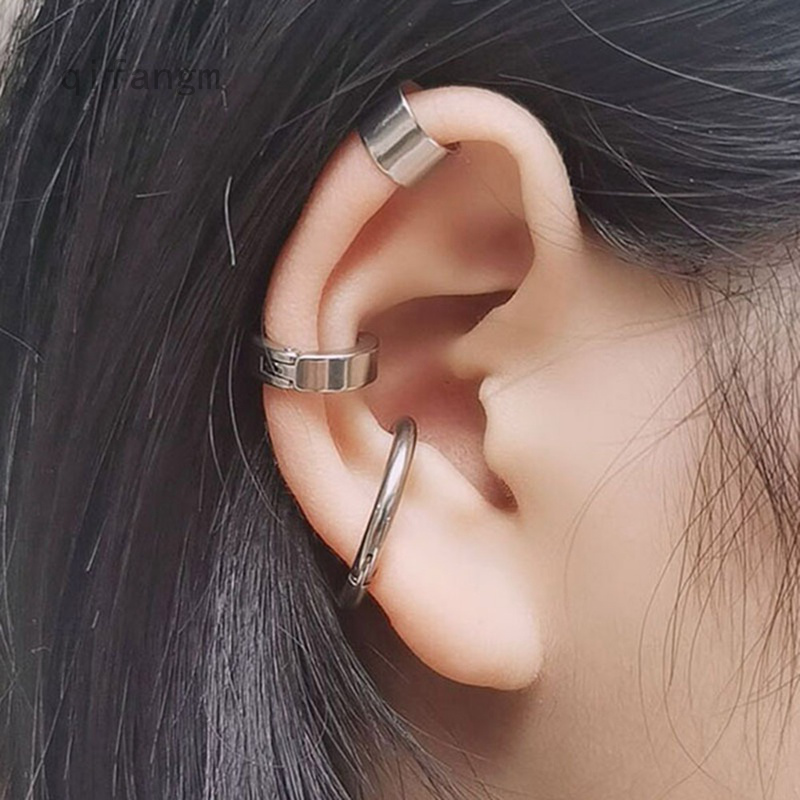 Cute Creative Safety Pin Earring Clips Girls Punk Goth Geometry Earring Silver Gold Black Colors Cartilage Eardrop
